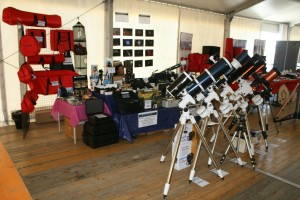 Lo stand Fermarket Astronomia allo Star Party a St. Barthelemy 2014
