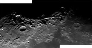 Il bordo occidentale del Mare Crisium, immagine di Norberto Milani